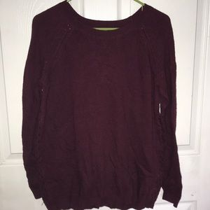 Women's cross back sweater